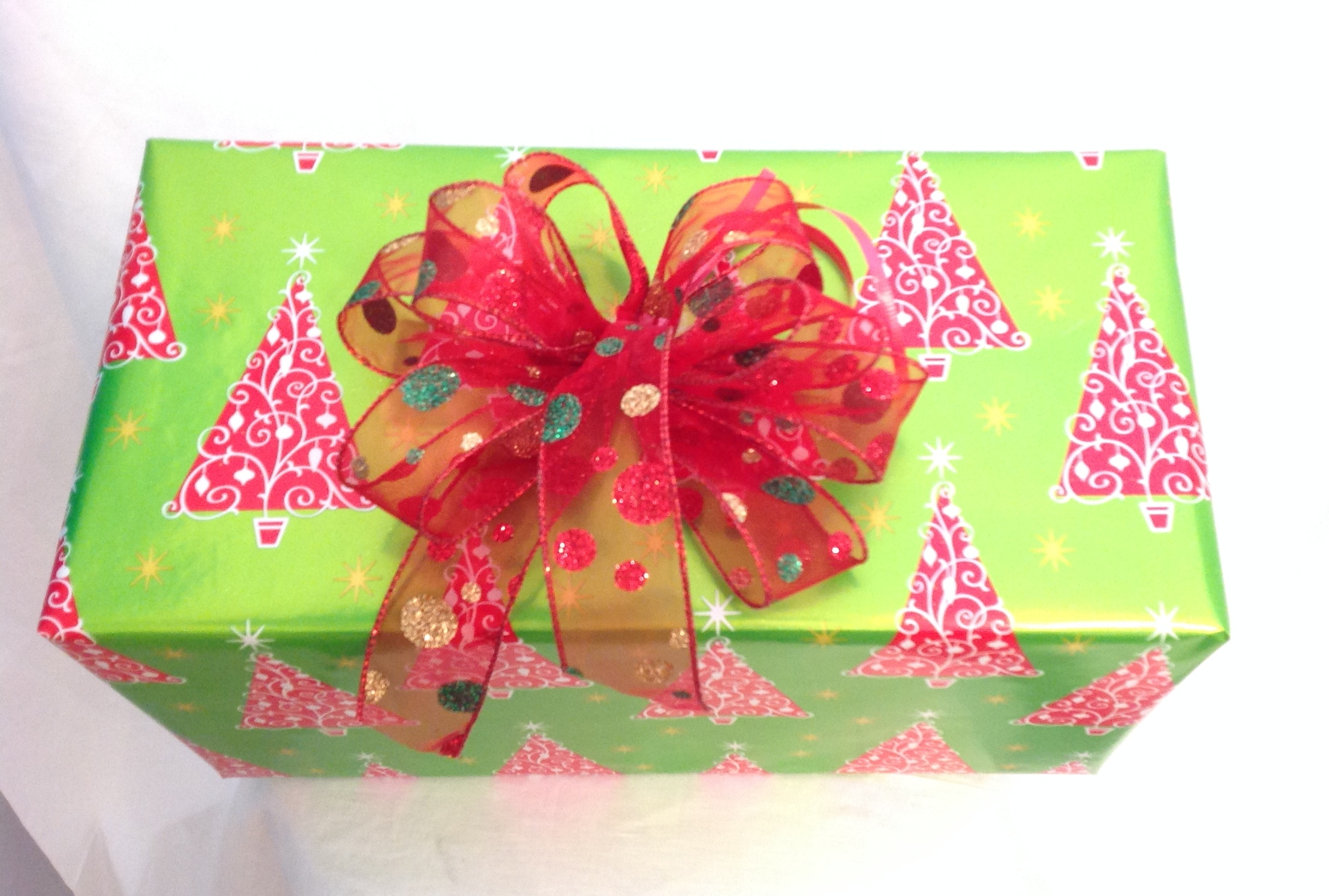 Holiday gift wrapping service by local Las Vegas company.