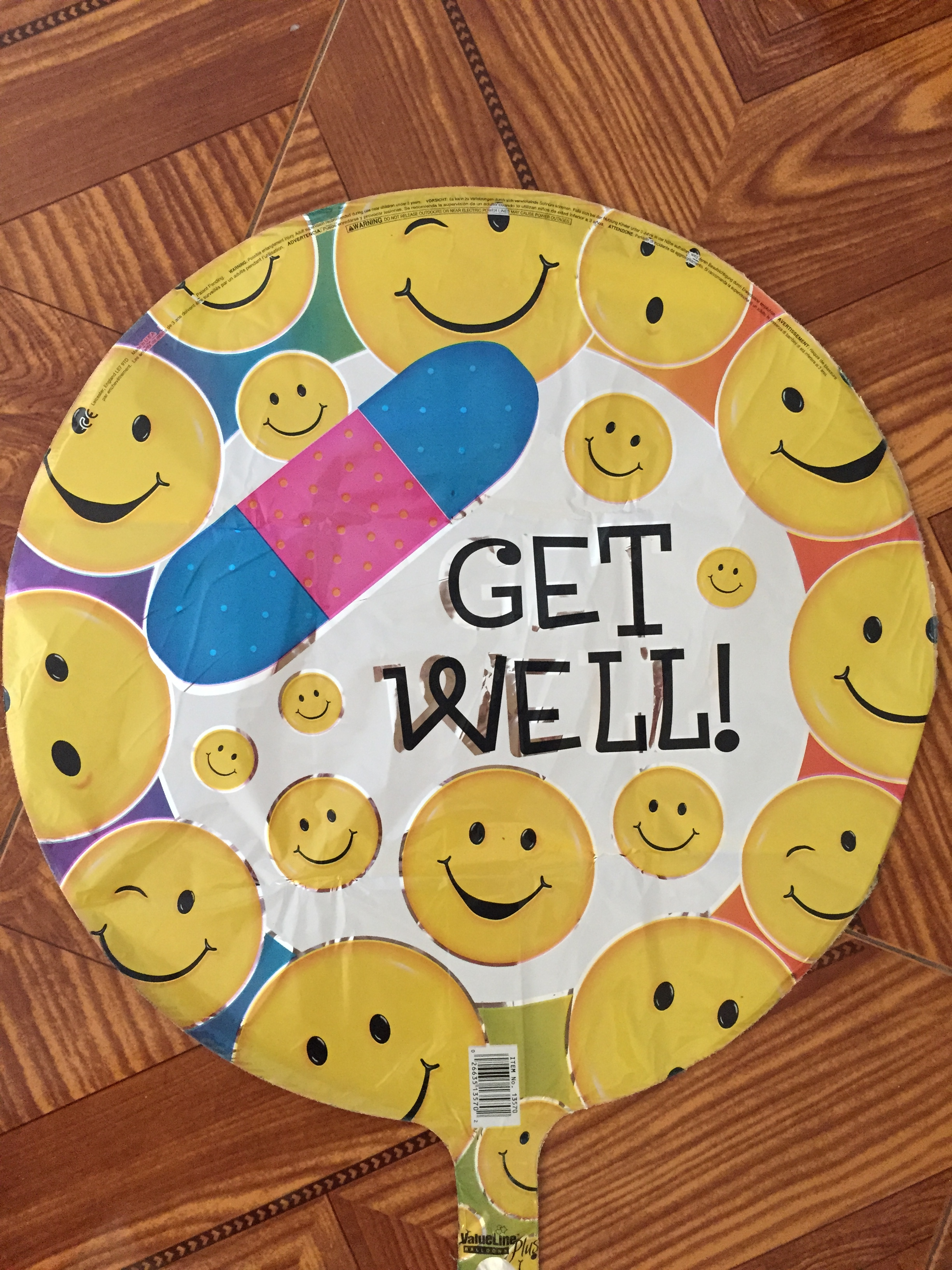 Smiley Face Get Well Balloon